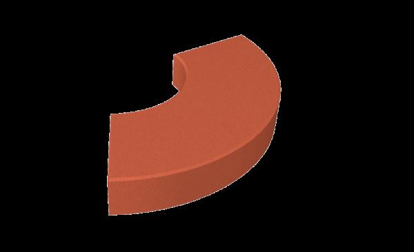Rød gummiblokk i SBR for lekeplassen